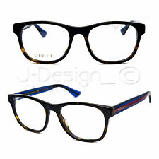 GUCCI GG 0004O 003 Dark Tortoise 53/19/145 Eyeglasses Rx Made Italy - New