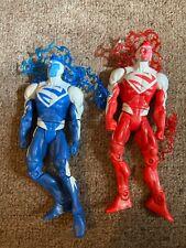 DC Universe Classics Wave 2, Red & Blue Variant Superman Figures, Loose