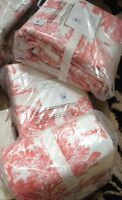 Pottery Barn Matine Toile Duvet Cover Desert Rose King Coral New No Shams