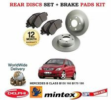 FOR MERCEDES B150 B160 B170 B180 B200 CDI 2005-> REAR BRAKE DISCS SET + PADS KIT