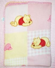 "Winnie the Pooh & Piglet Napping Soft Pink Fleece Baby Blanket - 28""x38"" Disney"