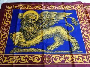Bandiera Veneta di San Marco del '700 dim. 150x80 sfondo blu Venezia Serenissima