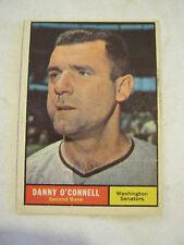 1961 Topps #318 Danny O'Connell Baseball Card, Good Cond (GS2-b11)