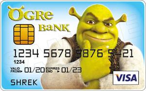 Shrek Novelty Plastic Credit Card