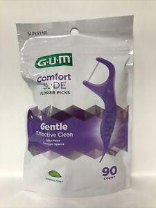 GUM Comfort Slide Flossers-Slides Easily Between Teeth-Fresh Mint-90ct