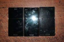 Lot of 3 Used & Untested LG P769 Optimus L9 Smart Phones For Parts/Repairs Only