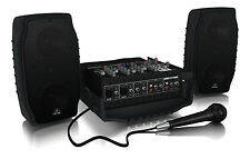 Behringer PPA200 Europort Portable Pa Sistema DJ House para fiesta escolar Altavoz