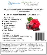 Simply Natural/Organic Hibiscus Flower Herbal Tea (30 Tea Bags) Cholesterol Free