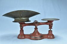 Antique FAIRBANKS COUNTRY STORE SCALE RED PAINT UNUSUAL CENTER BALANCE #08023