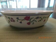 Lenox Casual Images Rose Garden oval open vegetable bowl, 10""