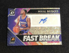 2018/19 Donruss Optic Fastbreak Signatures Mikal Bridges