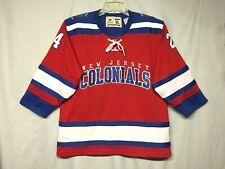 New Jersey Colonials # 24 Lonergan Breakaway Hockey Youth Jersey Size Xl