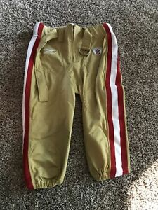 2011 San Francisco 49ers Game Issued Gold Pants Authentic Reebok Size 36