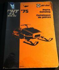 ORIGINAL 1975 BOMBARDIER SKI-DOO 245 RV F/A SNOWMOBILE PARTS MANUAL (923)