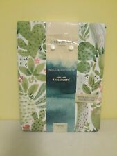 Cynthia Rowley Indoor/Outdoor Fabric Tablecloth Cactus Cacti 52 x 70