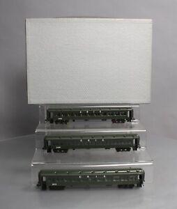 Northwest Short Line HO Scale BRASS Erie Coach Cars (Set of 3)/Box