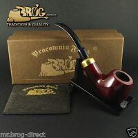 "Mr.Brog Pfeife Tabakpfeife BRUYERE Nr.124 "" BENT ARMY "" ROT - klassik pipe pipa"
