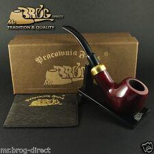 "Mr.Brog Pfeife Tabakpfeife BRUYERE Nr.124 ""BENT ARMY"" ROT - klassik pipe pipa"