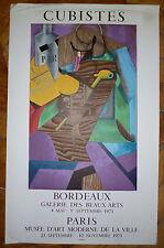 Joan GRIS Affiche en Lithographie Mourlot cubisme art abstrait Bordeaux Paris