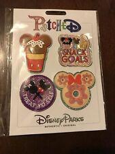 Disney Parks Disney Foods Snack Goals Treat Self 4 Patch Set New
