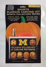 Michigan Wolverines Halloween Pumpkin Carving Kit NEW 6 patters jack-o-latern