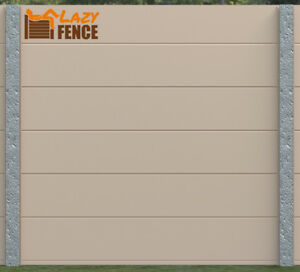 GARDEN FENCE PANELS 6FT KIT residential fence COMMERCIAL FENCE BEIGE LazyFence