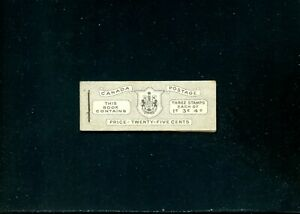 LOT 91331 MINT NH BOOKLET 43b CONTAINS 1 PANE OF 284a 286a 287a KING GEORGE V1