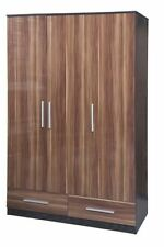 Wood Veneer Wardrobes with Flat Pack and 3 Doors