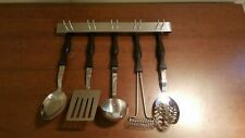 New listing 5 Piece Vintage Cutco Cutlery Serving Utensils Plus Hanging Rack #1712-1717