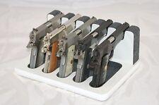 Pistol 5 Gun Rack Stand 503 White Gray Cabinet Safe