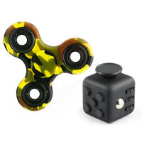 Magic Fidget Puzzle Cube Hand Spinner Anti-anxiety Adult Stress Relief Toy Black