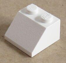 10 x LEGO® 3678 City,Systemstein,Dachsteine in weiss 2 x 2 x 2 //65° Neuware