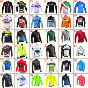 2021 Mens Team Cycling Jersey Bike Tops Long Sleeve Shirt Bicycle Sports Uniform