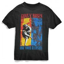 Guns N Roses-Use Your Illusion Combo Front Print-X-Large  Black T-shirt