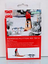 Busch 7816 - H0 - A-Set: Hundeschlitten - NEU in OVP