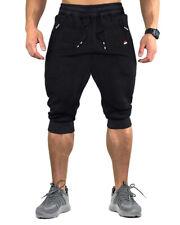 Men's Athletic Casual Shorts 3/4 Jogger Capri Pants Breathable Below Knee Shorts
