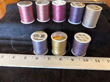 Lot Metallic Thread 5 New 3 Partial 8 Total Coats