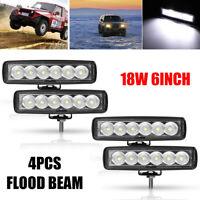 4Pcs 6inch Led Work Light Flood Offroad Driving Lamp SUV ATV 4WD ATV Truck UTE