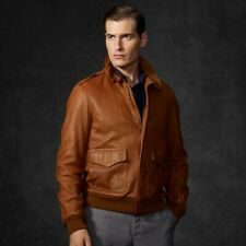 POLO BY RALPH LAUREN / VINTAGE A2 LAMBSKIN LEATHER BOMBER JACKET / RRP $895.00