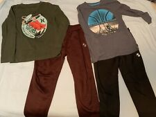 Boys Size 7 / 8 Athletic Pants And Shirts