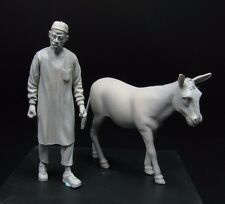 █ 1/35 Resin North African Man with Donkey Unpainted TR397