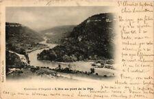 CPA Environs d'Orgelet - L'Ain au pont de la Pile (211599)