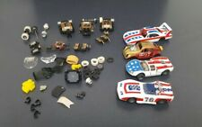 Vintage Tyco Curve Hugger Lot Red White Blue 4 Slot Cars And Parts