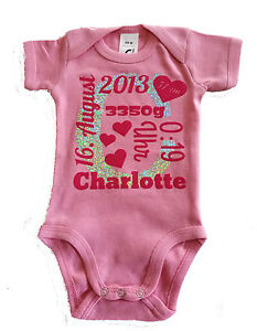 Baby Body mit Geburtsdaten - individuell bedruckt!