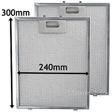 2 x Silver Filter For RANGEMASTER Cooker Hood Metal Vent Filters 300 x 240 mm