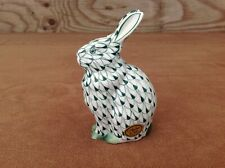 Andrea by Sadek Green Fishnet Ceramic Bunny Rabbit