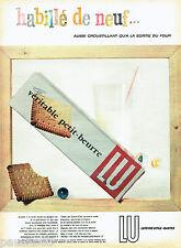 PUBLICITE ADVERTISING 016  1957  LU  le véritable petit-beurre