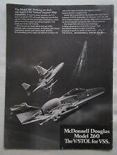 7/1975 PUB MCDONNELL DOUGLAS MODEL 260 V/STOL VSS US NAVY ASW AEW ORIGINAL AD