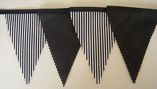 Newcastle fabric football bunting black white flags 2mt Birthday gift Decoration