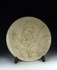 Chinese Antique Cizhou Ware Pearl Background Porcelain Plate
